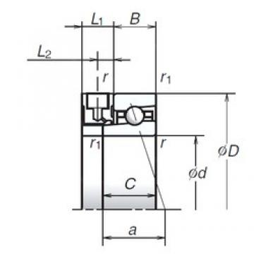 50 mm x 72 mm x 12 mm  NSK 50BER19XE Double Row Cylindrical Roller Bearings