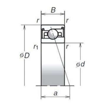 100 mm x 140 mm x 24 mm  NSK 100BNR29HV1V Face-to-face duplex arrangement Bearings