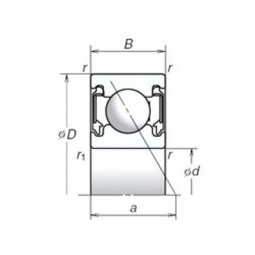 15 mm x 32 mm x 10 mm  NSK 15BSA10T1X Face-to-face duplex arrangement Bearings