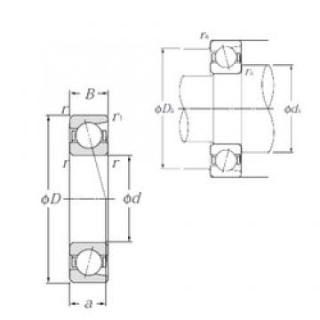 90 mm x 115 mm x 13 mm  NTN 7818C Face-to-face duplex arrangement Bearings