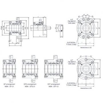 NSK WBK40DF-31 Double Row Cylindrical Roller Bearings