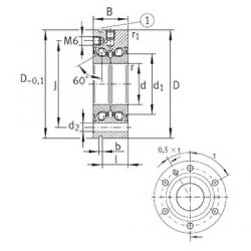 12 mm x 55 mm x 25 mm  INA ZKLF1255-2RS Pressed Steel Cages Single-Row Angular Contact Ball Bearings