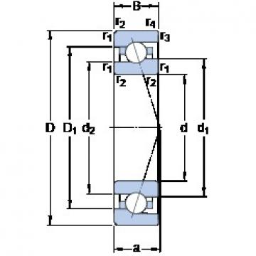35 mm x 62 mm x 14 mm  SKF 7007 ACE/HCP4A Reduced Torque from Optimized Design Precision Bearings