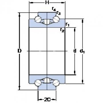 SKF BTW 140 CM/SP Pressed Steel Cages Single-Row Angular Contact Ball Bearings